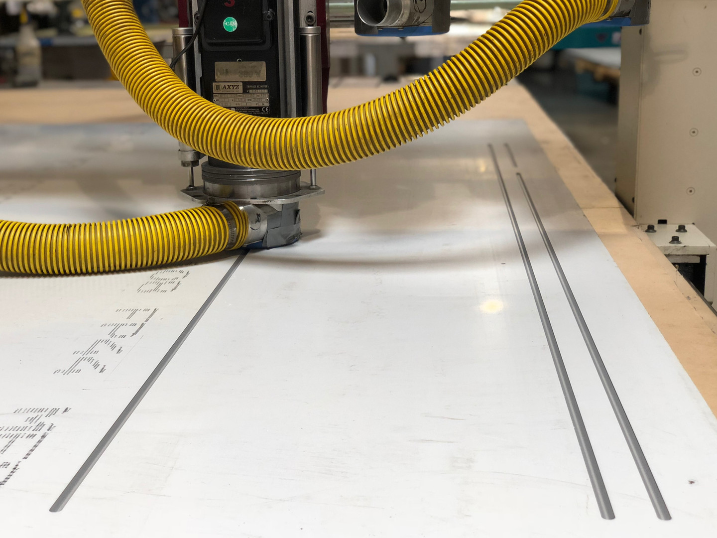 CNC Routing Close up