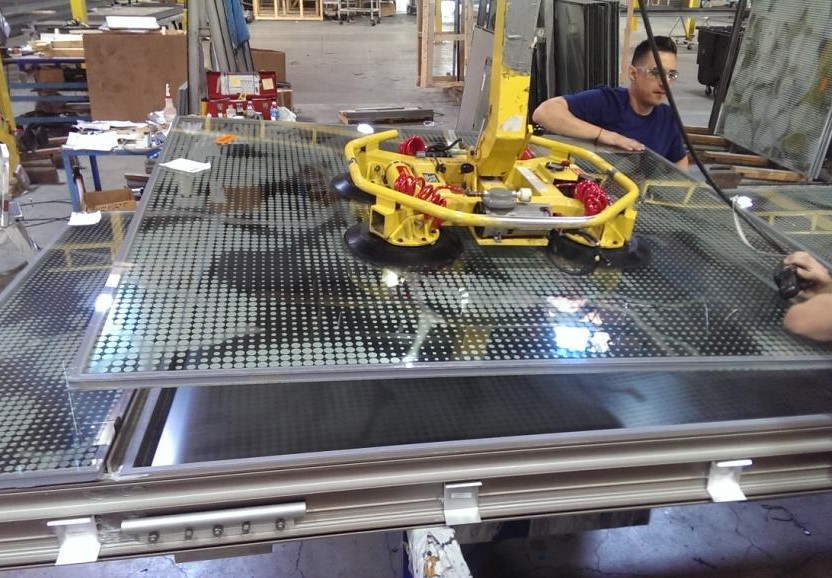 Assembly of Unitized Curtain Wall