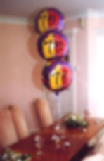 18th Birthday helium balloon table decorations are perfect for table centres, we will set up and display the balloons in your venue, hotel or village hall, we cover Harrogate, Knaresborough, Ripon, Leeds, Bradford, York, Wetherby and surrounding area