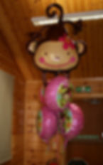 Childrens birthday party monkey balloons harrogate