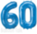 60th Birthday Balloon numbers, filled with helium these super shape balloons are perfect to make a big impression, they are available in gold, silver, blue, purple and can be made upto any age, we will display them at your venue, North Yorkshire