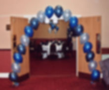 Helium balloon pearl arch for your School prom or leavers party