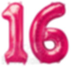 16th Birthday Balloon numbers, filled with helium these super shape balloons are perfect to make a big impression, they are available in gold, silver, blue, purple and can be made upto any age, we will display them at your venue, North Yorkshire