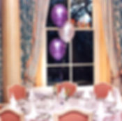 Table centre balloon decorations are the perfect way to bring out the colours of your christening.  Helium balloon table centres are best in groups of odd numbers