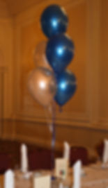 Helium balloon table centres for your School prom or leavers party