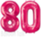 80th Birthday Balloon numbers, filled with helium these super shape balloons are perfect to make a big impression, they are available in gold, silver, blue, purple and can be made upto any age, we will display them at your venue, North Yorkshire