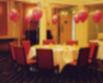 latex helium balloons are perfect tied to chairs at your wedding reception, they can be matched to your chosen colour theme.
