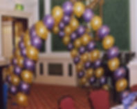 50th Birthday helium balloon arch, we will set up and display the balloons in your venue, hotel or village hall, we cover Harrogate, Knaresborough, Ripon, Leeds, Bradford, York, Wetherby and surrounding area