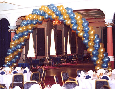 80th Birthday Helium Balloon Swirl Arch We Will Set Up And Display The