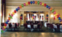 60th Birthday helium balloon arch, we will set up and display the balloon arch in your venue, hotel or village hall, we cover Harrogate, Knaresborough, Ripon, Leeds, Bradford, York, Wetherby and surrounding area