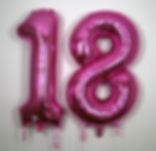 18th birthday supershape foil helium balloons