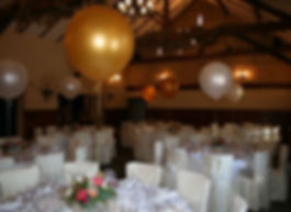 "40"" Helium Wedding balloons displayed at The Crown Roecliffe, Near Boroughbridge. Perfect foe any wedding celebration"