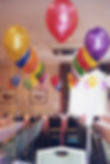 18th Birthday helium balloons, we will set up and display the balloons in your venue, hotel or village hall, we cover Harrogate, Knaresborough, Ripon, Leeds, Bradford, York, Wetherby and surrounding area