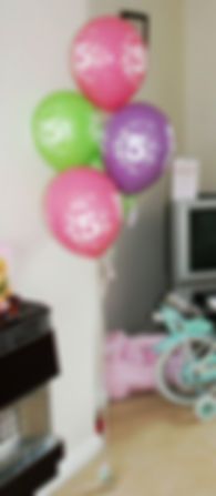 kids / childrens birthday helium party balloons aged 1 2 3 4 5 6 7 8 9 10