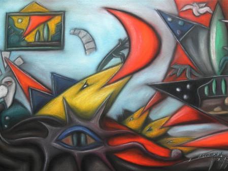 As obras deste pintor despertam o nosso imaginário