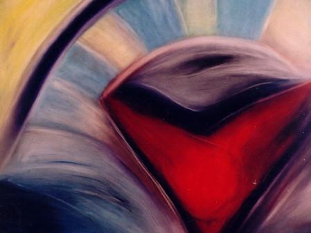 Paixão mútua entre o artista e o cromatismo