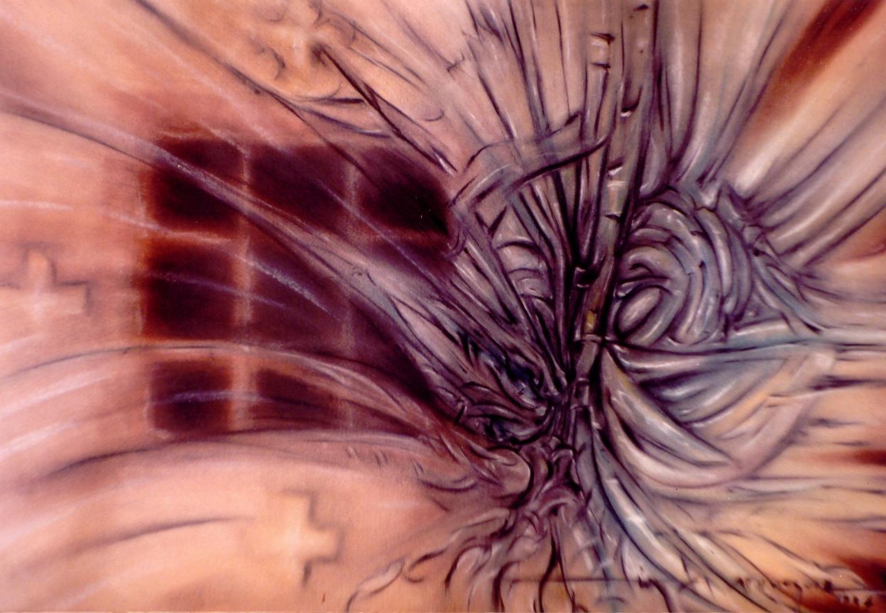 Padecimento de Alma hostilizada 50x70. 1994.jpg