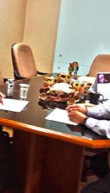 Diskusi dengan Kepala Biro Umum