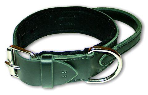 Leather Collar, Felt Padded with Grip,