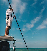 Florida Keys flats fishing, poling the flats