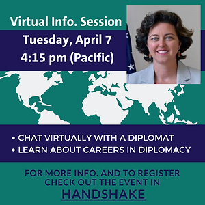 Chat with a Diplomat Virutal Info Sessio