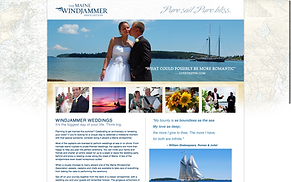 Windjammer weddings website