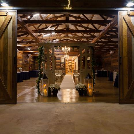 JM Prosperity Farm Rustic Barn Venue... looking in