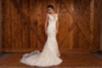Bride in Front of Barn Doors