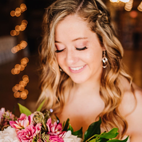 Brides, Florals and twinkle lights at JM Prosperity Farm Rustic Barn Venue