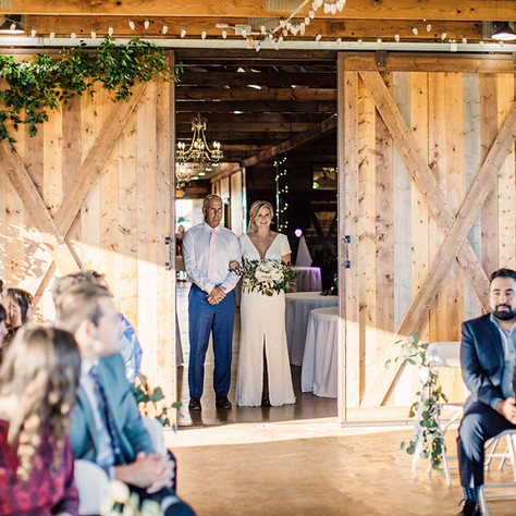 Here comes the Bride at JM Prosperity Farm Rustic Barn Venue