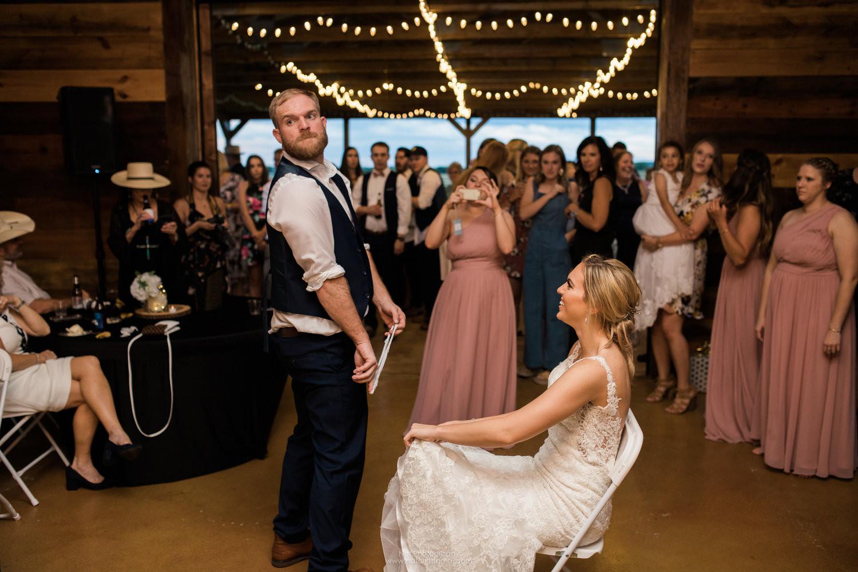 The wedding reception is on at JM Prosperity Farm Rusitc Barn Venue
