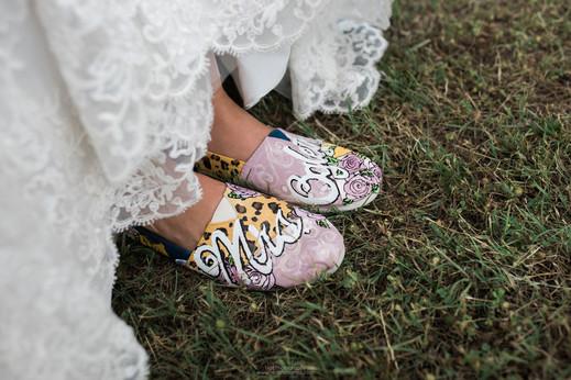 Bridal Shoes at JM Prosperity Farm Rustic Barn Venue