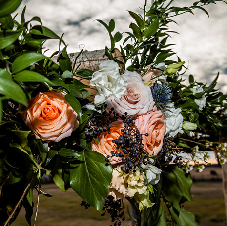 Gorgeous Outdoor Arch at JM Prosperity Farm Rustic Barn Venue