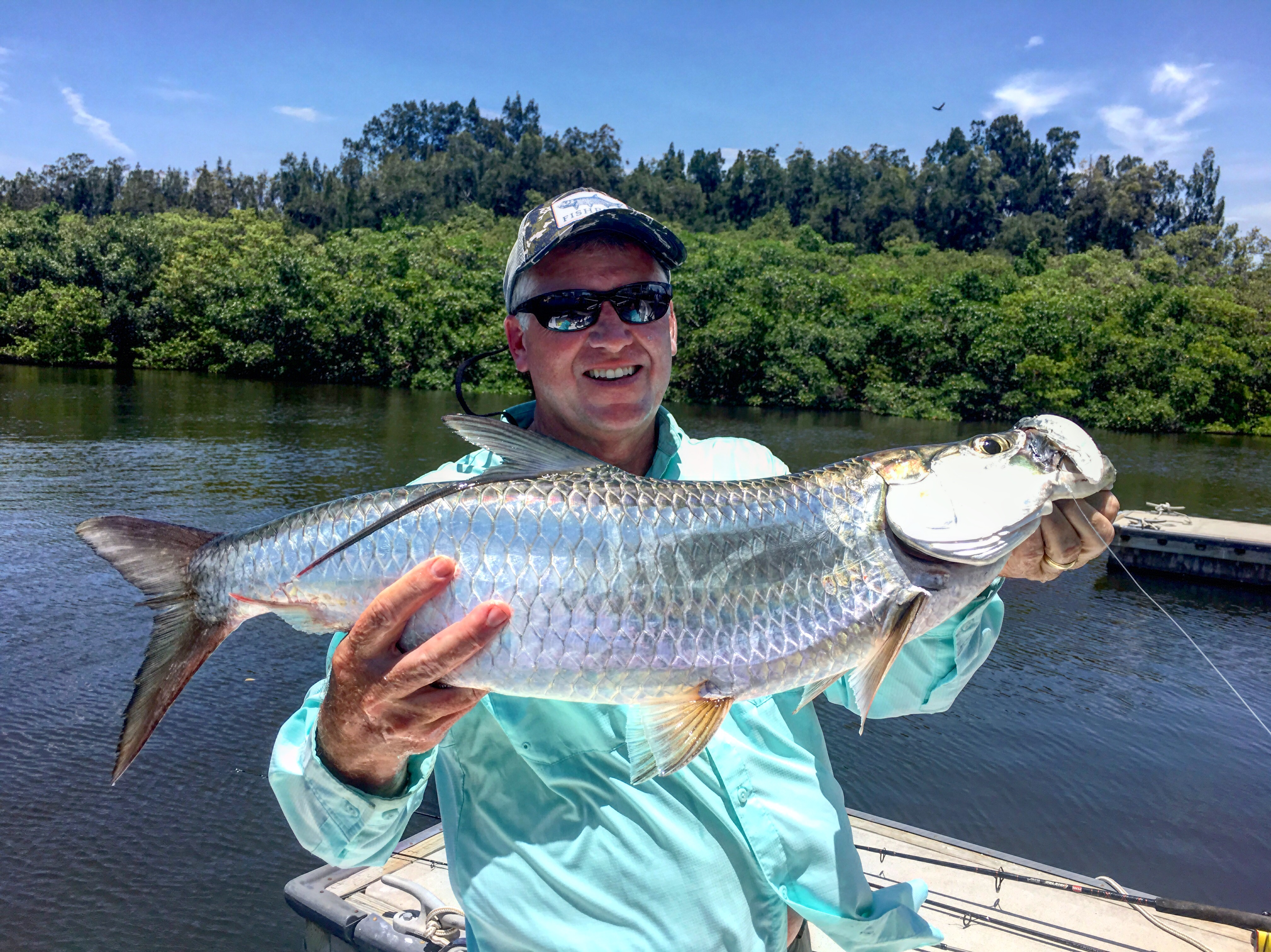 Tarpon on fly