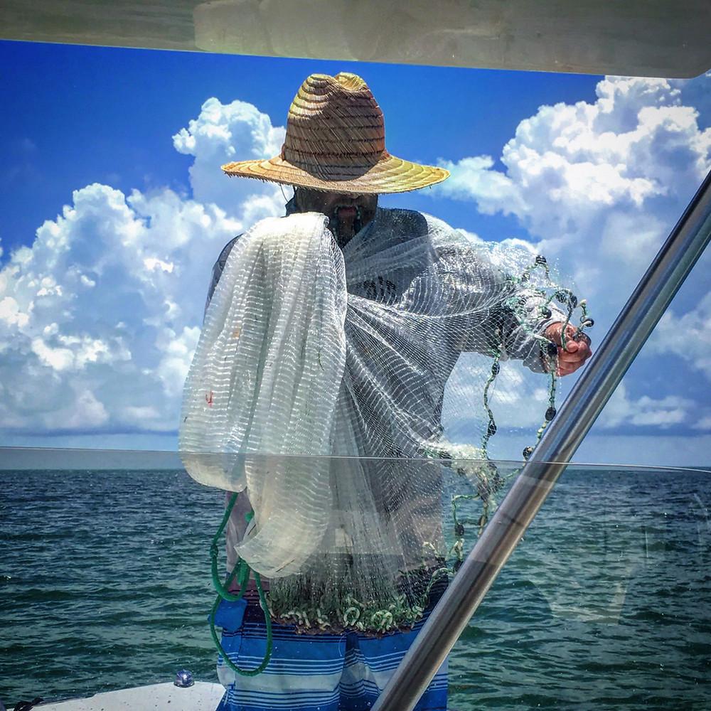 Anna Maria Island Fishing Cast Net | AMI Charters