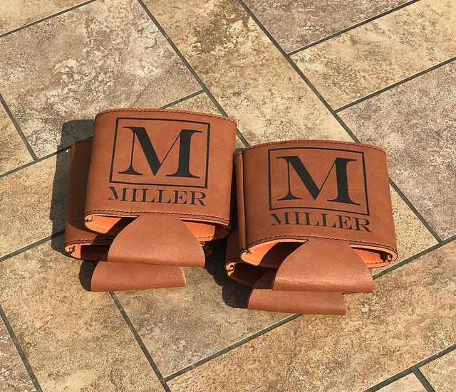 Leather Koozie Set