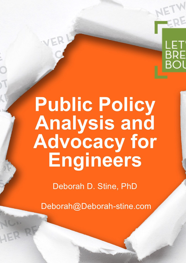 Society of Women Engineers Presentation Fall 2018 Public Policy Analysis and Advoc
