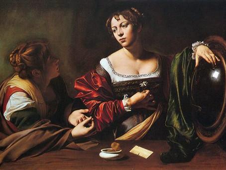 Antica pratica di divinazione con gli specchi.