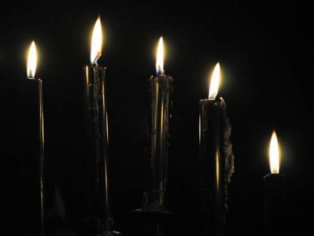Le candele nere nella Stregoneria.
