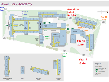 Students' Return to Year Group Zones from Monday 21st June - 18/06/2021