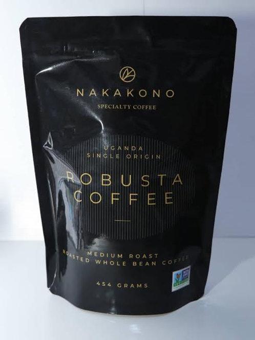 NAKAKONO FINE ROBUSTA COFFEE Roasted Whole Bean 454 grams
