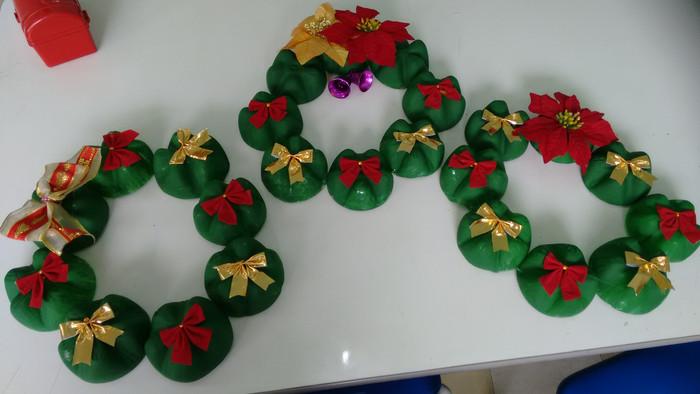 Enfeites de Natal com Materiais Recicláveis