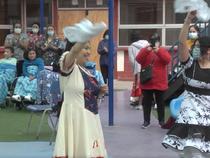 Celebración de fiestas patrias del Pequeño Cottolengo de Quintero