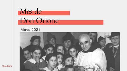 Oraciones diarias para el Mes de Don Orione (mayo 2021)