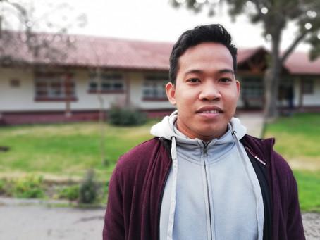 Nuevo religioso en Chile: El hno Bryan de filipinas