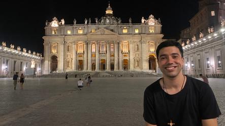 Nuestro seminarista Sebastián Vega ingresa al noviciado en Italia