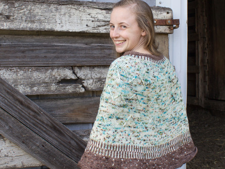 Going to the Mountains Poncho Knitting Pattern: Yarn Recommendations