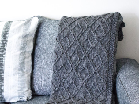 Nestled Diamonds Blanket: Behind the Design & Yarn + Color Recommendations