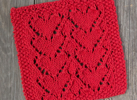 Free Knitting Pattern: Lovely Heart Dishcloth