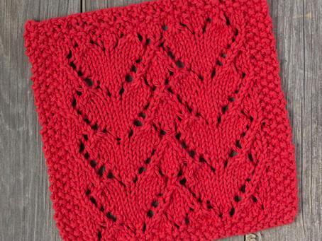 Free Knitting Pattern: Lovely Heart Dishcloth